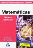 Portada de CUERPO DE PROFESORES DE ENSEÑANZA SECUNDARIA: MATEMATICAS: TEMARIO VOLUMEN III