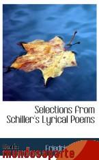 Portada de SELECTIONS FROM SCHILLER`S LYRICAL POEMS