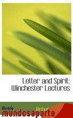 Portada de LETTER AND SPIRIT: WINCHESTER LECTURES