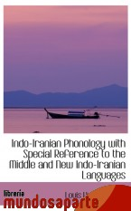 Portada de INDO-IRANIAN PHONOLOGY WITH SPECIAL REFERENCE TO THE MIDDLE AND NEW INDO-IRANIAN LANGUAGES