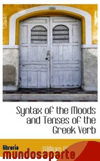 Portada de SYNTAX OF THE MOODS AND TENSES OF THE GREEK VERB