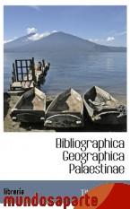Portada de BIBLIOGRAPHICA GEOGRAPHICA PALAESTINAE