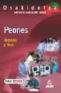 Portada de PEONES DE OSAKIDETZA. SERVICIO VASCO DE SALUD: TEMARIO Y TEST