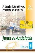 Portada de ADMINISTRATIVOS DE LA JUNTA DE ANDALUCIA. PROMOCION INTERNA. TEMARIO. VOLUMEN I