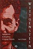 Portada de WITTGENSTEIN. A PROPOSITO DE REGLAS Y LENGUAJE PRIVADO: UNA EXPOSICION ELEMENTAL