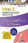Portada de NIVEL E COMUNIDAD FORAL DE NAVARRA. TEST PARTE ESPECIFICA