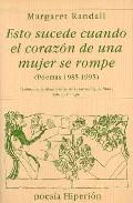 Portada de ESTO SUCEDE CUANDO EL CORAZON DE UNA MUJER SE ROMPE: POEMAS, 1985-1995