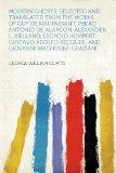 Portada de MODERN GHOSTS; SELECTED AND TRANSLATED FROM THE WORKS OF GUY DE MAUPASSANT, PEDRO ANTONIO DE ALARCON, ALEXANDER L. KIELLAND, LEOPOLD KOMPERT, GUSTAVO ADOLFO BECQUER, AND GIOVANNI MAGHERINI-GRAZIANI;