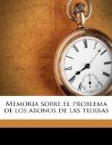 Portada de MEMORIA SOBRE EL PROBLEMA DE LOS ABONOS DE LAS TIERRAS