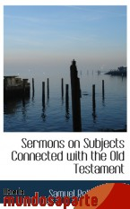 Portada de SERMONS ON SUBJECTS CONNECTED WITH THE OLD TESTAMENT