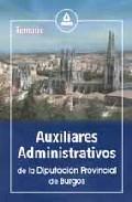 Portada de AUXILIARES ADMINISTRATIVOS DE LA DIPUTACION PROVINCIAL DE BURGOS: TEMARIO