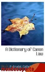 Portada de A DICTIONARY OF CANON LAW
