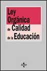 Portada de LEY ORGANICA DE CALIDAD DE LA EDUCACION