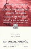 Portada de SONATA DE PRIMAVERA, SONATA DE ESTIO, SONATA DE OTOÑO, SONATA DE INVIERNO, MEMORIAS DEL MARQUES DE BRADOMIN