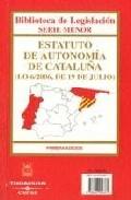 Portada de ESTATUTO DE AUTONOMIA DE CATALUÑA