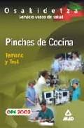 Portada de PINCHES DE COCINA DEL SERVICIO VASCO DE SALUD-OSAKIDETZA: TEMARIOY TEST