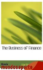 Portada de THE BUSINESS OF FINANCE