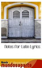 Portada de NOTES FOR LATIN LYRICS