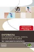 Portada de ENFERMERA DEL CONSORCIO HOSPITAL UNIVERSITARIO DE VALENCIA. TEST CONOCIMIENTOS ESPECIFICOS