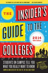 Portada de THE INSIDER'S GUIDE TO THE COLLEGES, 2014