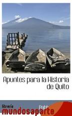 Portada de APUNTES PARA LA HISTORIA DE QUITO
