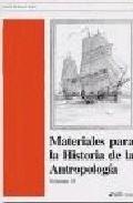 Portada de MATERIALES PARA LA HISTORIA DE LA ANTROPOLOGIA II
