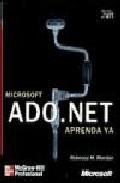 Portada de APRENDA YA ADO.NET MICROSOFT
