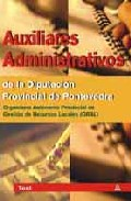 Portada de AUXILIARES ADMINISTRATIVOS DE LA DIPUTACION PROVINCIAL DE PONTEVEDRA: TEST