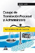 Portada de CUERPO DE TRAMITACION PROCESAL Y ADMINISTRATIVA  DE LA ADMINISTRACION DE JUSTICIA. TEST