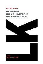 Portada de RESUMEN DE LA HISTORIA DE VENEZUELA (EBOOK)