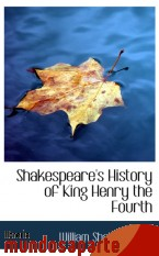 Portada de SHAKESPEARE`S HISTORY OF KING HENRY THE FOURTH