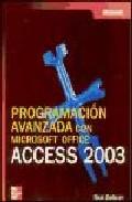 Portada de PROGRAMACION AVANZADA EN MICROSOFT ACCESS 2003