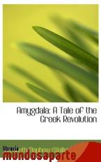 Portada de AMYGDALA: A TALE OF THE GREEK REVOLUTION