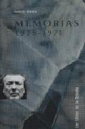 Portada de MEMORIAS 1928-1971 . MANUEL RIVERA