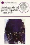 Portada de ANTOLOGIA DE LA POESIA ESPAÑOLA: 1939-1975
