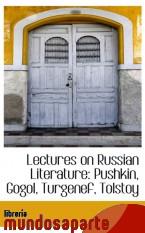 Portada de LECTURES ON RUSSIAN LITERATURE: PUSHKIN, GOGOL, TURGENEF, TOLSTOY
