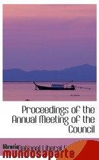 Portada de PROCEEDINGS OF THE ANNUAL MEETING OF THE COUNCIL