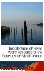 Portada de RECOLLECTIONS OF SEVEN YEARS RESIDENCE AT THE MAURITIUS: OR ISLE OF FRANCE