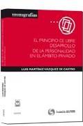 Portada de EL PRINCIPIO DE LIBRE DESARROLLO DE LA PERSONALIDAD