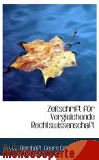 Portada de ZEITSCHRIFT FÜR VERGLEICHENDE RECHTSWISSENSCHAFT