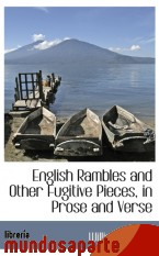Portada de ENGLISH RAMBLES AND OTHER FUGITIVE PIECES, IN PROSE AND VERSE