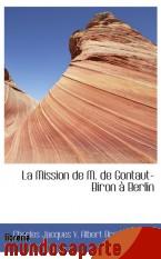 Portada de LA MISSION DE M. DE GONTAUT-BIRON À BERLIN
