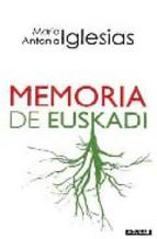 Portada de MEMORIA DE EUSKADI (EBOOK)