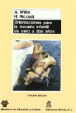 Portada de ORIENTACIONES PARA LA ESCUELA INFANTIL DE CERO A DOS AÑOS
