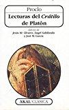 Portada de LECTURAS DEL CRATILO DE PLATON
