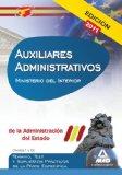 Portada de AUXILIARES ADMINISTRATIVOS DE LA ADMINISTRACION DEL ESTADO. TEMARRIO, TEST Y SUPUESTOS PRACTICOS DE LA PARTE ESPECIFICA . MINISTERIO DEL INTERIOR