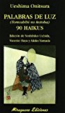 Portada de PALABRAS DE LUZ = TOMOSHIBI NO KOTOBA : 90 HAIKUS