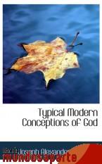 Portada de TYPICAL MODERN CONCEPTIONS OF GOD