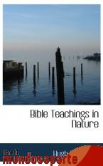 Portada de BIBLE TEACHINGS IN NATURE