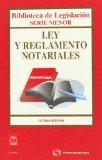 Portada de LEY REGLAMENTO NOTARIALES